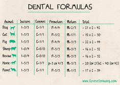 Dental formulas