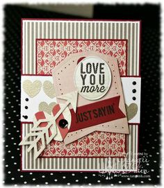 Reverse Confetti | Crushin', Arrows 'n Elements, Whole Lotta Hearts, Tag Me Die, Arrow Die [Valentine's Day Card]