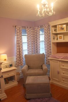 Great girly touches to this lilac nursery