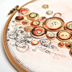Love embroidery hoop art? Then how about this mixed media embroidery hoop art project?