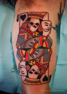 Abstract Card Tattoo by Dave Wah