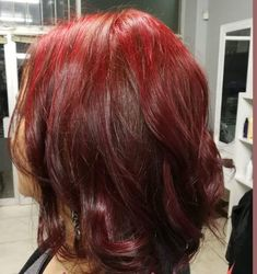 My new hair color!! Red and feisty for winter.