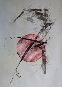 MOONSCRIPT, Woodblock print & collagraph, 39 x 28 cm (2015)