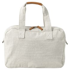 Muji Linen blend Boston bag