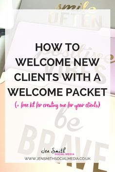 How to welcome new clients with a welcome packet (2)