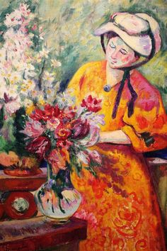 ⊰ Posing with Posies ⊱ paintings of women and flowers - Henri Manguin | La Bouquetière