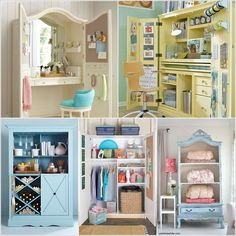 Do you have an old or vintage armoire at home that is an eye sore? If yes then it does not deserve to be thrown away as in the presence of the spectacular ideas below it would be unjust to toss away such a gem.