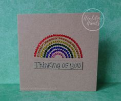 Super Baby Cards Hand Made Rainbow Ideas Rainbow Card, Rainbow Colors, Pet Sympathy Cards, Sorry For Your Loss, Baby Girl Announcement, Deepest Sympathy, Rainbow Bridge, Baby Cards, I Card