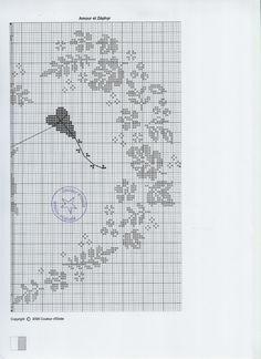 вышивка монохром - сердечко из цветов и ангелочек. Обсуждение на LiveInternet - Российский Сервис Онлайн-Дневников