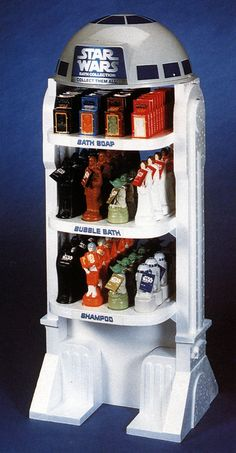 Vintage retail display for the Star Wars bath collection, 1980s