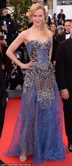 5/14/14.   Seriously eye-catching: Nicole's dress featured a sheer skirt with a jewel encrusted bodice
