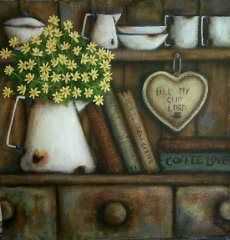 Coffee Love, Pencil Drawings, Colored Pencils, Still Life, Decoupage, Country, Crafty, Christmas Ornaments, Holiday Decor