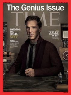 Benedict Cumberbatch on the cover of TIME  Grooming by Erica Glaub Davidson Photography by Dan Winters