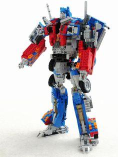 Optimus Prime - this custom LEGO kit actually transforms