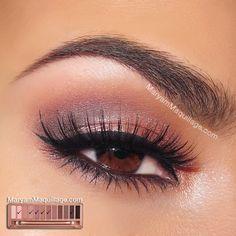 Tutorial para ojos marrones con la paleta NAKED 3 | http://fotos.soymoda.net/tutorial-para-ojos-marrones-con-la-paleta-naked-3/