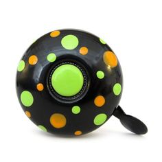 Black Polkadot Bicycle Bell, just one more way to add your personal cycle style to your ride. $24.00 http://levelovictoria.co/collections/bells-that-ring/products/bell  ... our lovely dringdring bicycle bells use eco-friendly paints: without solvents or toxic fumes, this make these little beauties resistant to all types of weather.