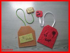 Marcapáginas con forma de bolsas de té