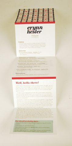Portfolio leave-behind or mailer idea