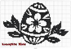 Cross Stitch Flowers, Cross Stitch Patterns, Filet Crochet Charts, Easter Cross, Easter Crochet, Doilies, Tatting, Free Pattern, Quilts