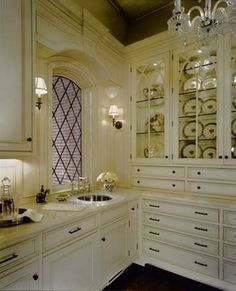Dream Butler's Pantry & kitchen design ideas and decor from The Enchanted Home: habersham kitchens