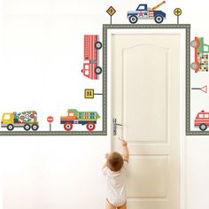 Truck wall decal for a boys room
