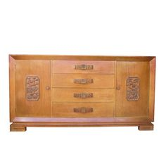 Bleached Mahogany Asian Cabinet in the manner of James Mont
