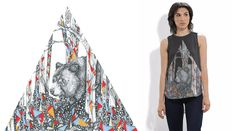 """Artist Carrolyn Lakowski creates eye-catching illustrations, reflecting the raw and unforgiving natural world that is eternally filled with life. Her unique use of color's within black and white pictures provide an original taste of pop to her pictures, as expressed here through her piece """"Bear I."""" Her fashion line on VIDA gives solutions for both classy and casual situations."""