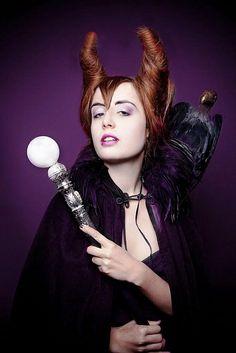 Halloween Maleficent Makeup