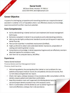 Registered Dental Assistant Cover Letter | Resume Writing and ...