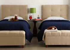 Matching twin beds for a shared room. ...I'm wondering if I shouldn't consider twin beds in my guest room?