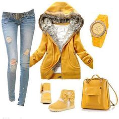 Yellow Fall Outfit #ShopSimple