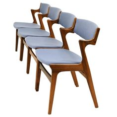 love this, i can see it in an entrance hall way with my coat and handbag strewn across it :) Rosewood Danish Modern Chairs by Nova Mobler. Denmark, 1960's