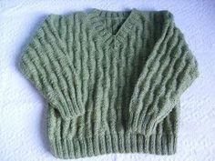 Esta é uma receita de tricô fácil, porém com um lindo resultado. Tamanho 5 a 7 anos