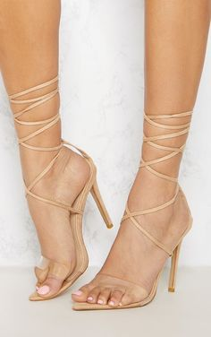 32a2447ce7e9 Nude Clear Strap Point Toe Barley There Sandal. Shop the range of shoes  today at