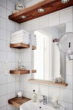 Small Bathroom Storage Ideas 002 Having a minimalist bathroom is a challenge for homeowners How to arrange the toilet storage area to make it look neat and orderly visit. Toilet Storage, Small Bathroom Storage, Bathroom Design Small, Bathroom Interior Design, Small Storage, Small Bathroom Sinks, Zen Bathroom, Tiny Bathrooms, Bathroom Closet