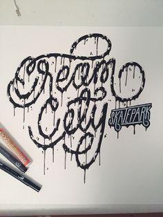 Cream City - Melting Ligatures | Abduzeedo Design Inspiration