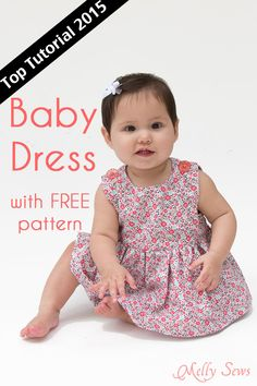 Top Tutorials 2015 - Sew a Baby Dress with a Free Pattern - Melly Sews