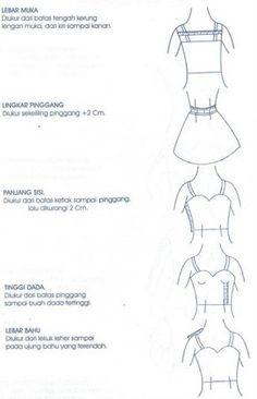 Cara Mengukur Badan – Tanjung [non] Boutique Sewing Baby Clothes, Sewing Pants, Dress Sewing, Sewing Basics, Sewing For Beginners, Basic Sewing, Sewing Patterns Free, Sewing Tutorials, Sewing Courses