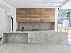 Stunning recently completed New Savior limestone kitchen installed by Interior Design Kitchen, Kitchen Decor, Kitchen Island Table, Kitchen Installation, Architecture Design, Design Inspiration, House Design, Stone, Modern