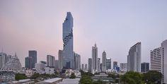 Büro Ole Scheeren's MahaNakhon Tower, Photographed by Hufton + Crow