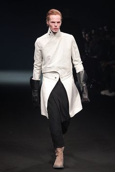 Asymmetrical jacket ...Paris: Rick Owens Men's Fall 2010...