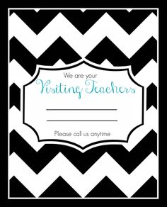Visiting Teaching handouts!! Free PRINTABLE