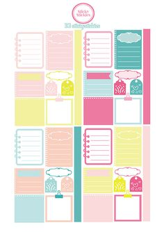 Free Printable Pastel Planning Stickers | stickystickies
