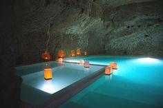 underground pool!