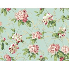 """York Wallcoverings Casabella II Rhododendron 27' x 27"""" Floral and Botanical 3D Embossed Wallpaper & Reviews 