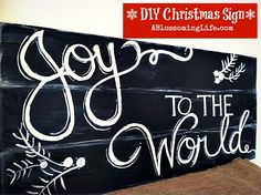 DIY Joy to the World Sign