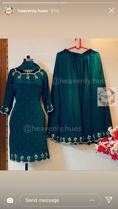 Discover recipes, home ideas, style inspiration and other ideas to try. Salwar Suit Neck Designs, Neck Designs For Suits, Dress Neck Designs, Blouse Designs, Punjabi Suits Designer Boutique, Indian Designer Suits, Boutique Suits, Embroidery Suits Punjabi, Embroidery Suits Design