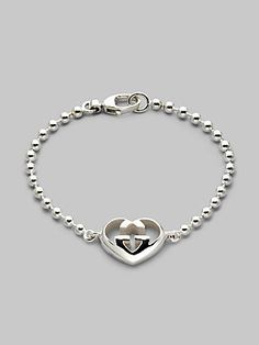 Gucci GG Heart Charm Bracelet