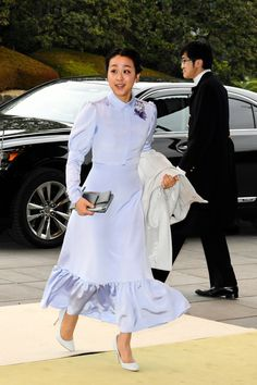 Former figure skater Mao Asada is seen on arrival at the tea party. Stock Pictures, Stock Photos, Medieval Wedding, Arab Men, Figure Skating, Royalty Free Photos, Formal Dresses, Wedding Dresses, Peplum Dress