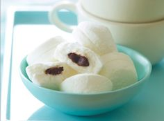 Sweet chocolate infused marshmallows! Nice sweet treat.